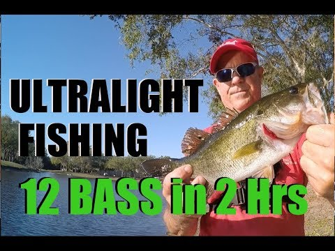 Ultralight Bass Fishing With Light Tackle on  Micro Series Rod