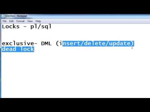 PL/SQL: Locks