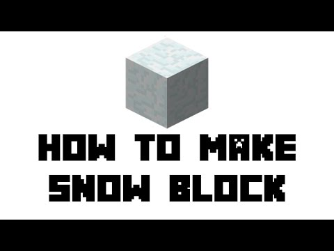 Minecraft Survival: How to Make Snow Block