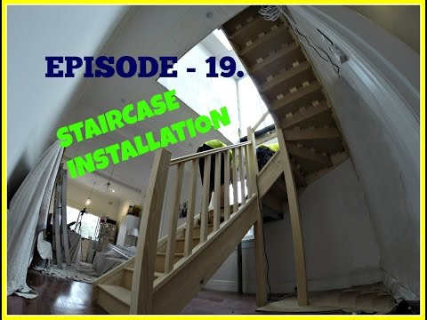 Episode 19 - Staircase Installation  - Small Space Big Build Project