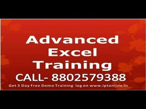 Advanced Excel Pivot Table in 2007 and 2013 in Hindi Call 8802579388