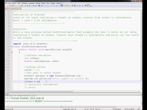 Exercise 1 Week 2 - Java Tutorials Inch to Centimeters Converter