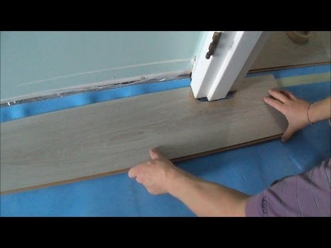 Installing Laminate/Cork Flooring without Transitions: How to Pass a Door Jamb- MrYoucandoityourself