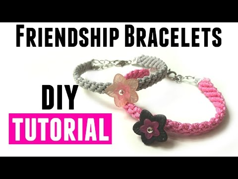 Friendship Bracelets Tutorial - DIY Jewelry Making