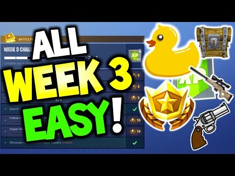 ALL Week 3 Challenges! GUIDE! Search Rubber Duckies, Follow the treasure map found in Salty Springs