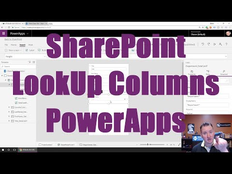 PowerApps SharePoint LookUp Column