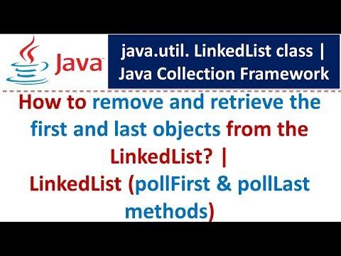 Java : Collection Framework : LinkedList (pollFirst & pollLast methods)