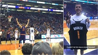 FRONT ROW SEATS AT SUNS GAME! (Suns give me gifts!)
