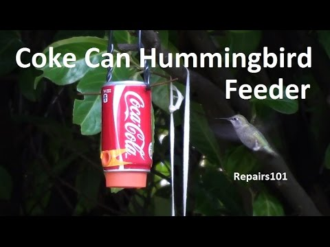 Coke Can Hummingbird Feeder