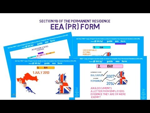 Section 9B of the Permanent Residence (EEA (PR)) Form