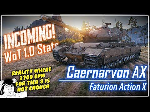 INCOMING! Caernarvon AX Stats || World of Tanks