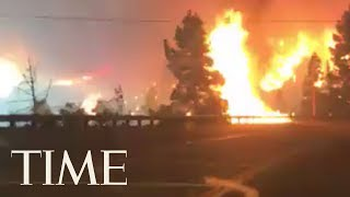 Why California Authorities Are Sharing This Terrifying Video Of A Woman Escaping A Wildfire | TIME