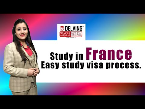 Study in France - Easy study visa process .