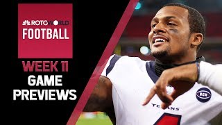 Fantasy Football Week 11 Game Previews | Rotoworld Football Podcast