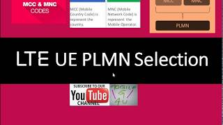 LTE UE PLMN Selection