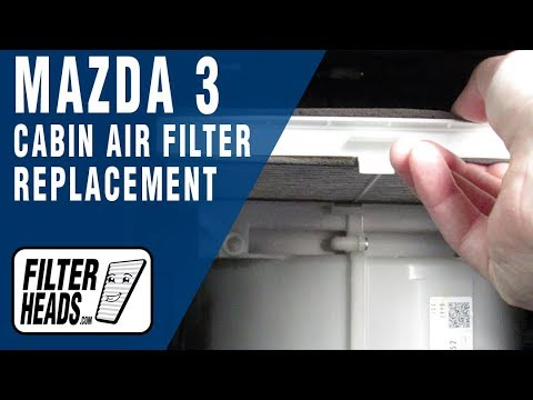 How to Replace Cabin Air Filter 2014 Mazda 3