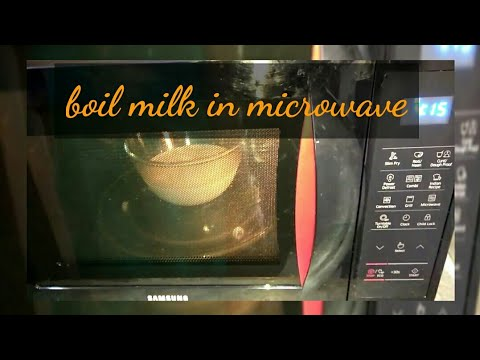 How to boil milk in microwave