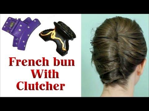 French Bun with CLUTCHER || French Twist Bun for GIRLS | Stylopedia