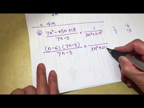 High school math -  complex fraction asmr