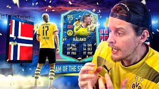 OMG WE PACKED HIM! 95 TEAM OF THE SEASON HALAND PLAYER REVIEW! FIFA 20 Ultimate Team