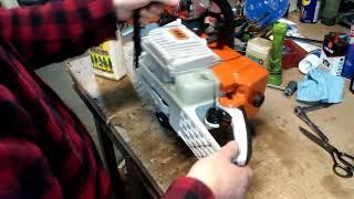 Huztl FarmerTec Clone MS440 Kit Chainsaw Cutting Wood