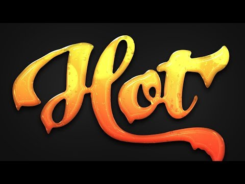 How To Create a Glossy Dripping Text Effect in Photoshop