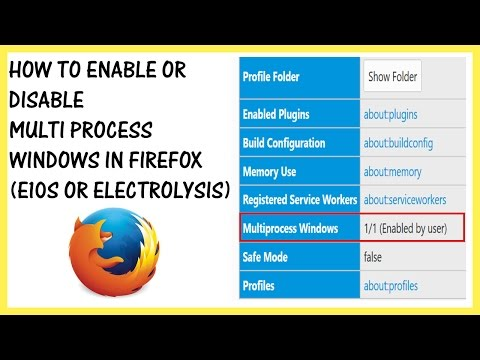 How to Enable or Disable Multi-Process Windows In Firefox (e10s or Electrolysis)