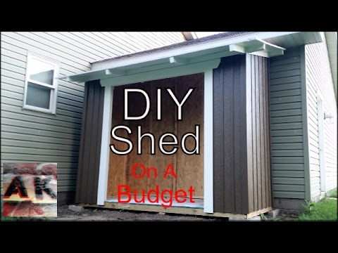 How-To Build A Budget Board and Batten Style Backyard Garden Shed Using OSB and Construction Lumber