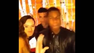Daisy Ridley, John Boyega and Oscar Isaac dancing together Star Wars The Force Awakens