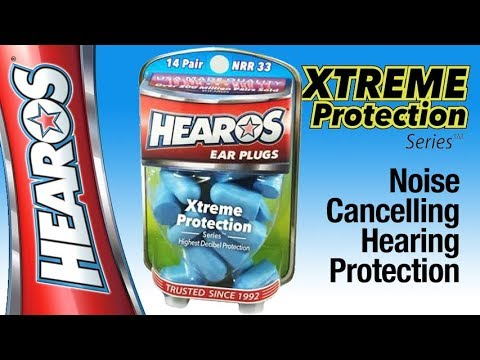 HEAROS Ear Plugs Xtreme Protection Series With NRR 33 Noise Canceling Hearing Protection