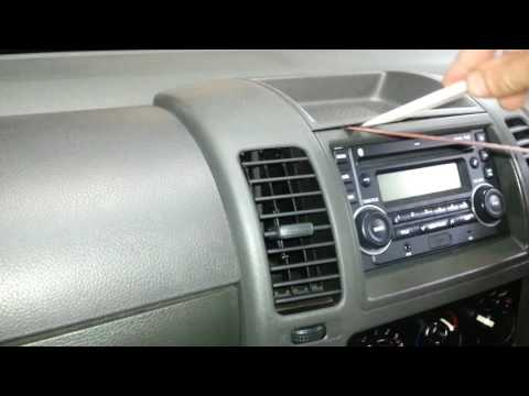 How to remove the radio from  a Nissan D40