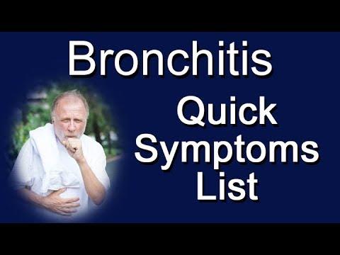 Bronchitis Quick Symptoms List