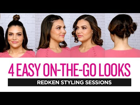 Redken Styling Sessions: 4 Easy On-The-Go Hairstyles