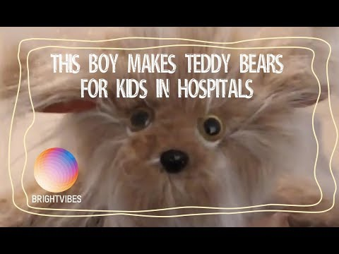 Meet Campbell, he has sewn 1000+ magical teddy bears for sick kids