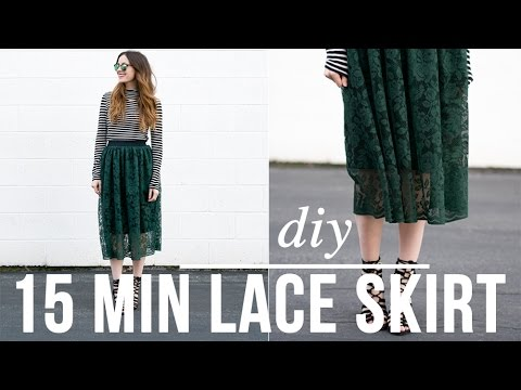DIY 15 minute lace skirt