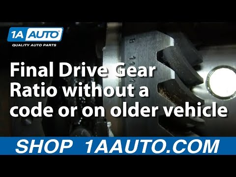 How to Determine your Final Drive Gear Ratio without a code or on older vehicle