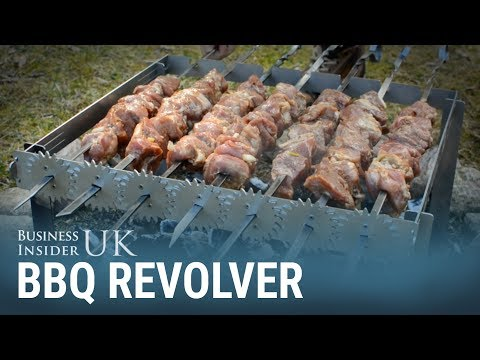 This device lets you turn all of your BBQ kebabs in one go.