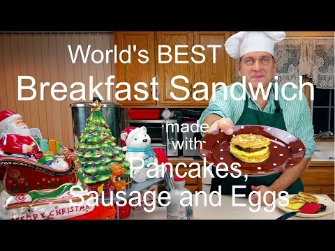 How to Make the Ultimate Pancake, Egg, and Sausage Breakfast Sandwiches