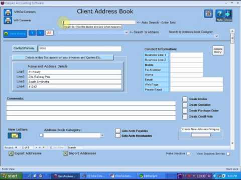 Setting up the Address Book in EasyAs Accounting Software