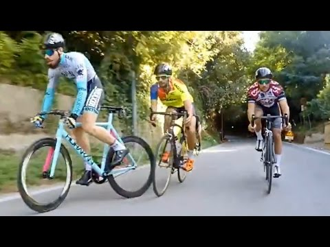 Fixed Gear Smashed Road Bikes, Hill Bombing - DAFNEFIXED