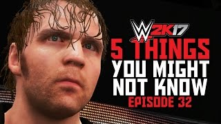 WWE 2K17 - 5 Things You Might Not Know! #32 (Kurt Angle/AJ Lee References, Diving Combos & More)