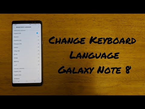 How to change keyboard language Note 8