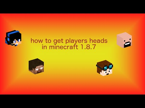 how to get players heads in minecraft 1 8 7