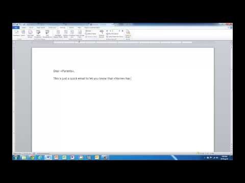 Word/Outlook: Create personalised emails with mail merge
