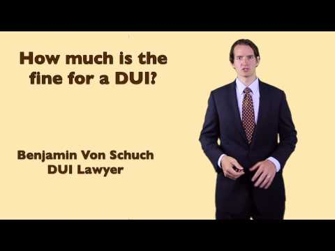 Cost of a fine for a DUI in Georgia | Atlanta DUI Lawyer