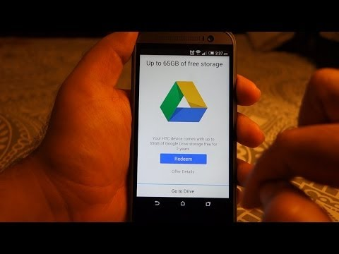 HTC One M8 - How to Redeem Your Free 50GB Google Drive Storage
