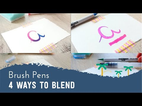How to - 4 Ways to Blend with Brush Pens | Stationery Island