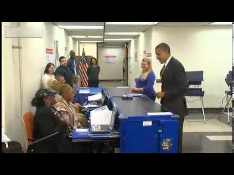 Obama asked to show ID while voting in Chicago