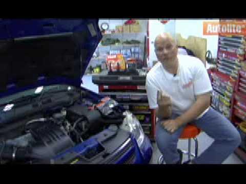 Autolite's Dave Buckshaw walks through a spark plug change