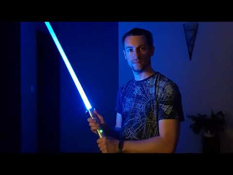 DIY blue power LED lightsaber